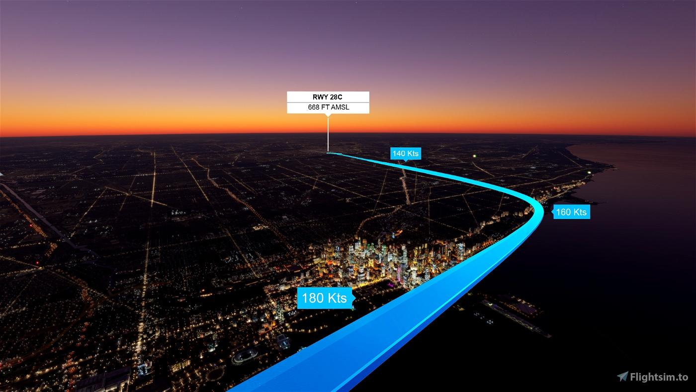 Chicago O'Hare Sunset Landing Challenge (KORD) A320/A32NX Flight Simulator 2020