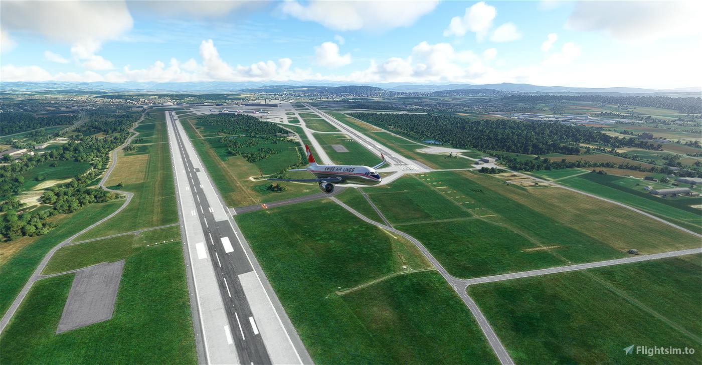 Zurich (LSZH) real Swiss Airlines passenger routes