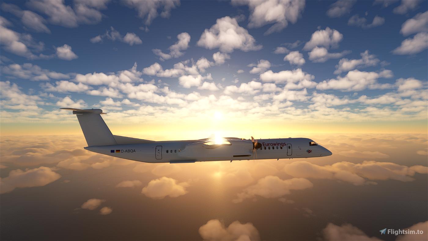 Eurowings Dash 8 Q400   4K Flight Simulator 2020