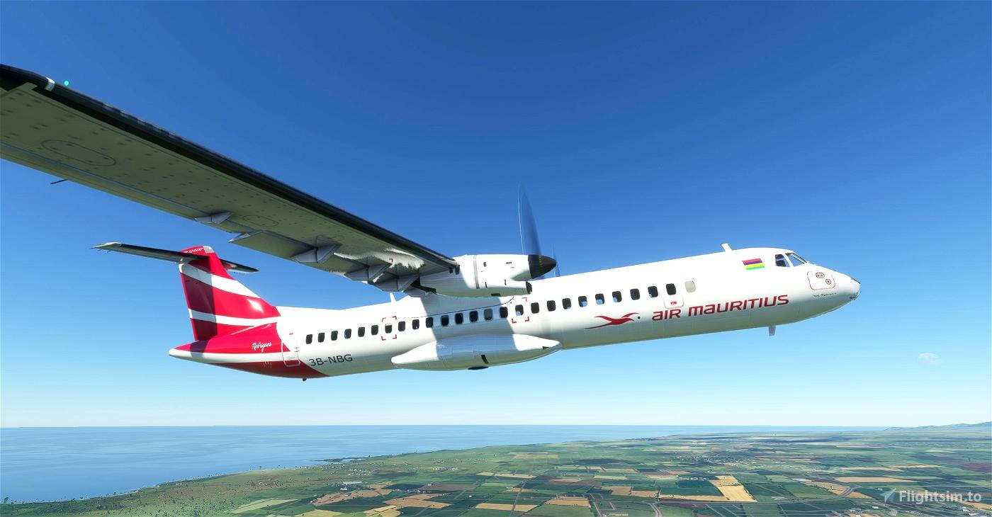 Air Mauritius ATR 72-600 8K Flight Simulator 2020