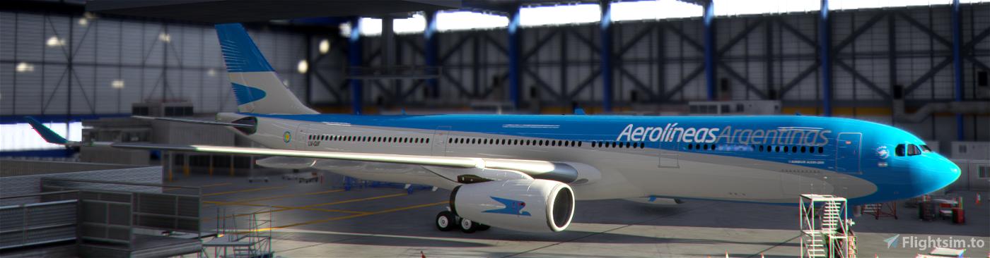 Aerolineas Argentinas LV-GIF PMP A330-300 Flight Simulator 2020
