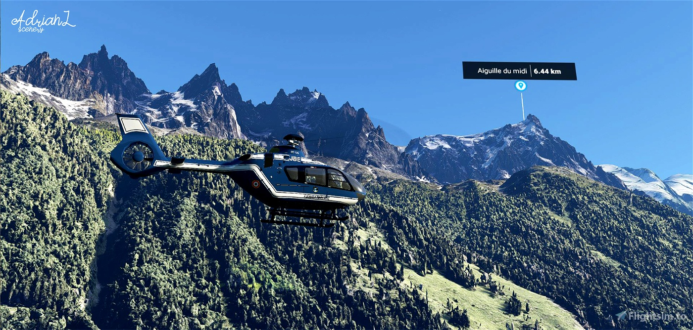 Chamonix-Mont-Blanc Valley Flight Simulator 2020