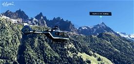 Chamonix-Mont-Blanc Valley Image Flight Simulator 2020