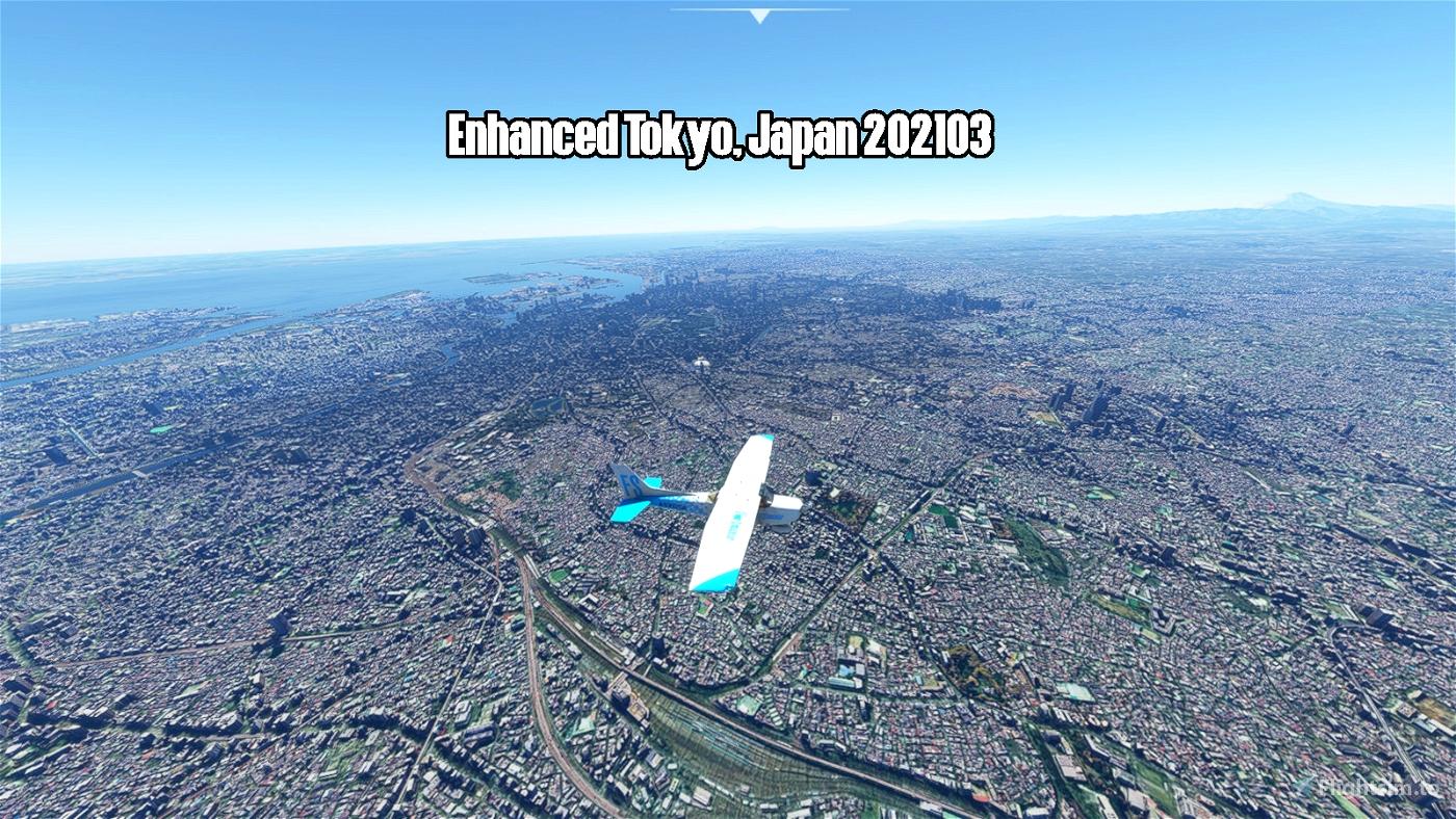 Enhanced Tokyo, Japan 202103 Flight Simulator 2020