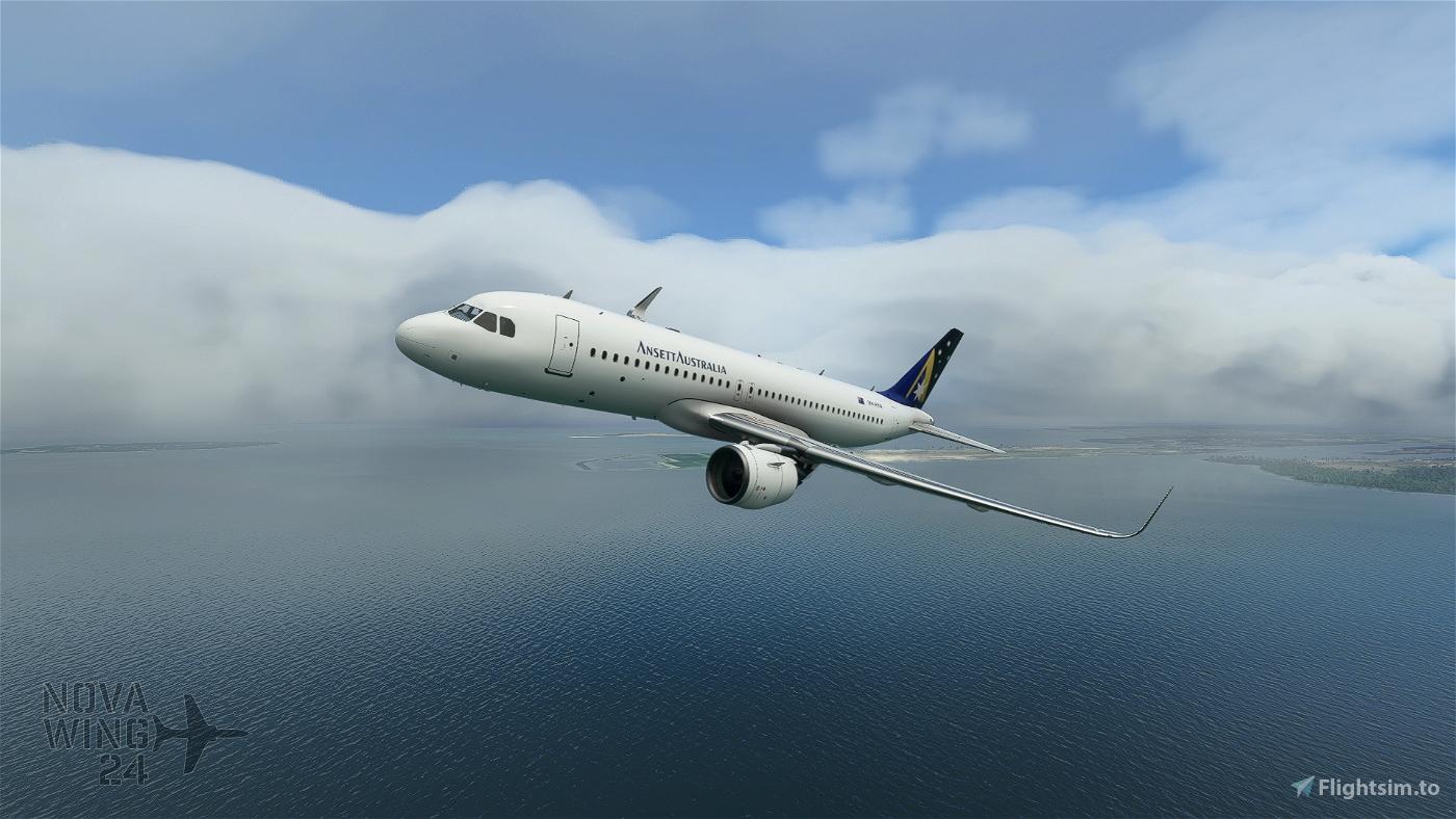 Airbus A320Neo Ansett Australia Flight Simulator 2020