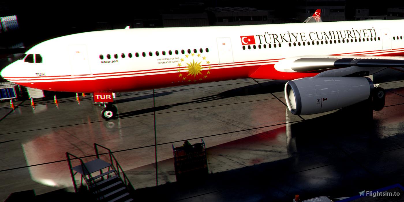Livery PMP Airbus A330-300 Turkey Government TC-TUR / 8k Flight Simulator 2020