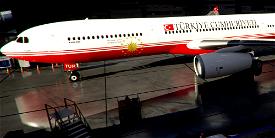 Livery PMP Airbus A330-300 Turkey Government TC-TUR / 8k Image Flight Simulator 2020