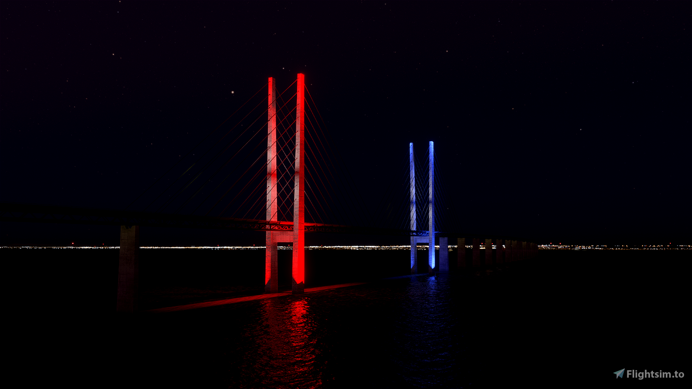 Oresund Bridge / Denmark - Sweden Flight Simulator 2020