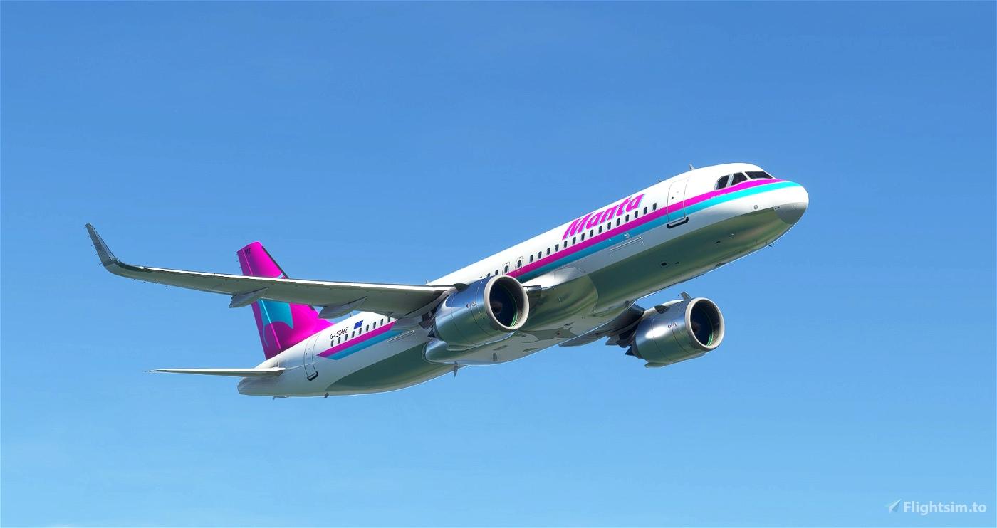 A320 Manta Airlines 1985 Livery [8K] Flight Simulator 2020