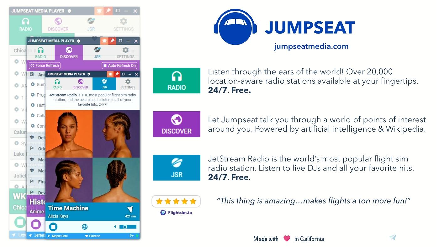 Jumpseat Radio Flight Simulator 2020
