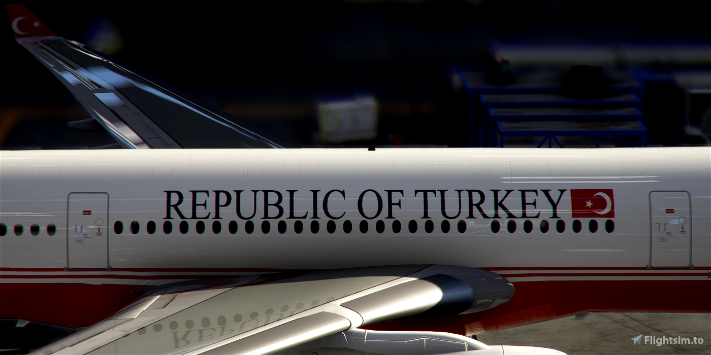 Livery PMP Airbus A330-300 Turkey Government TC-TUR / 8k