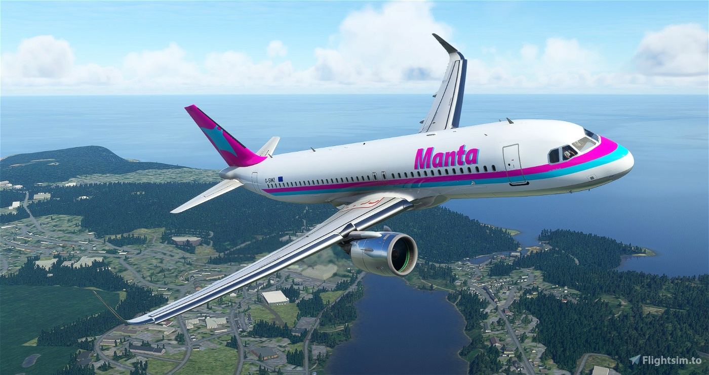A320 Manta Airlines 1985 Livery [8K]
