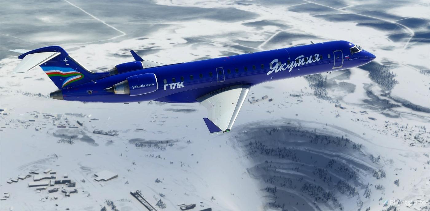 CRJ 550 Yakutia Flight Simulator 2020