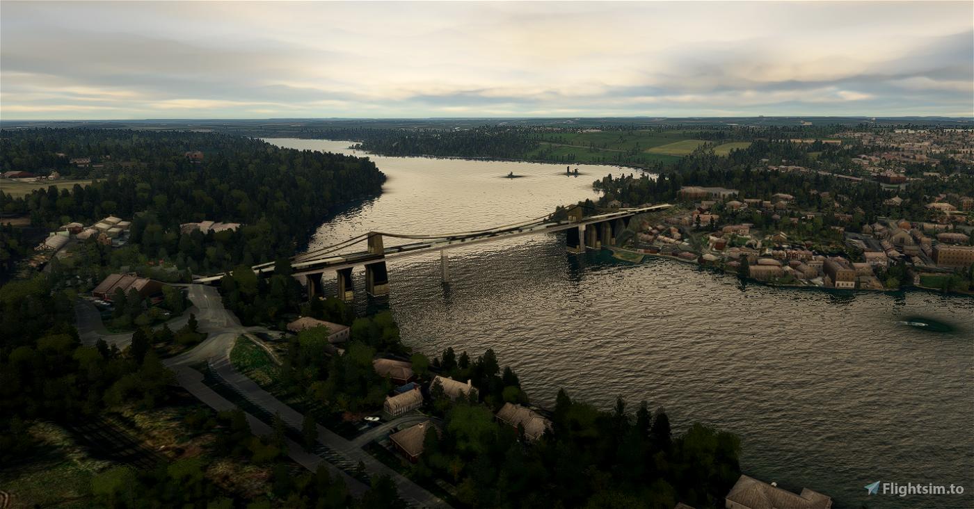 Menai Bridge North Wales for MSFS2020 Flight Simulator 2020