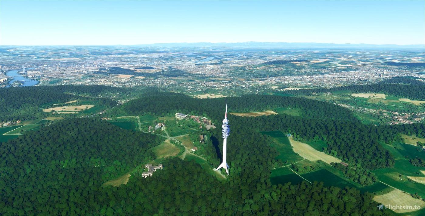St. Chrischona Tower Basel, Switzerland Flight Simulator 2020