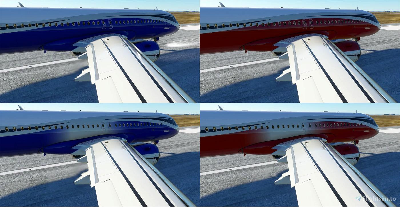 FBW A32NX ACJ320neo colored wave designs Flight Simulator 2020