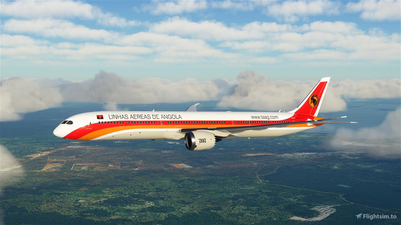 TAAG Angola Airlines Boeing 787 - 8K Flight Simulator 2020