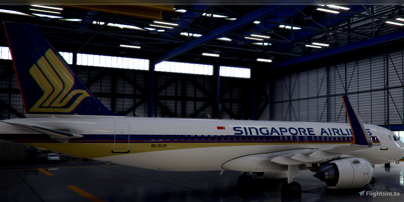 [A32NX] FlyByWire | Airbus A320neo Singapore 9V-SLM in 8k