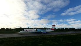 Austrian Dash 8 Q400 (Old livery) Image Flight Simulator 2020
