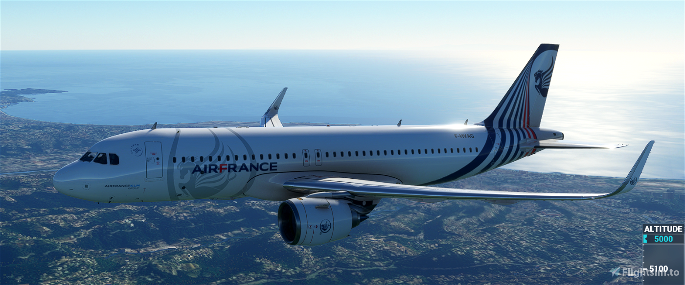 [A32NX] A320neo Air France fictitious concept livery 01 Flight Simulator 2020