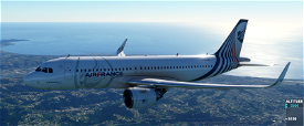 [A32NX] A320neo Air France fictitious concept livery 01 Image Flight Simulator 2020