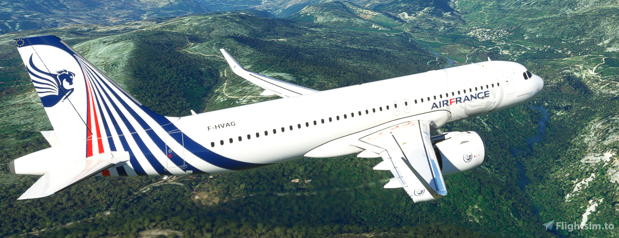 [A32NX] A320neo Air France fictitious concept livery 01