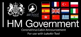 LukeAir Tool - United Kingdom Coronavirus Announcement in English, French, Spanish and more Image Flight Simulator 2020