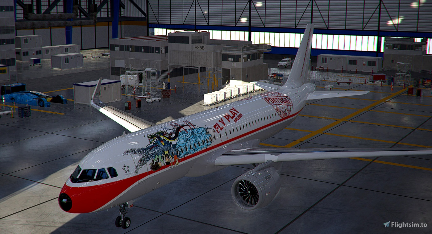 [A32NX] Fly Play Airlines VA livery - WELCOME TO PORTUGAL Flight Simulator 2020