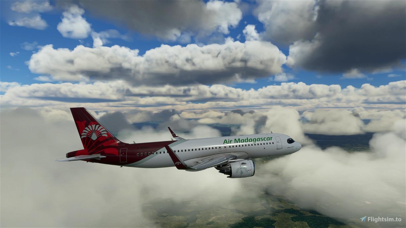 [A32NX] FlyByWire A320neo Air Madagascar 8K Flight Simulator 2020