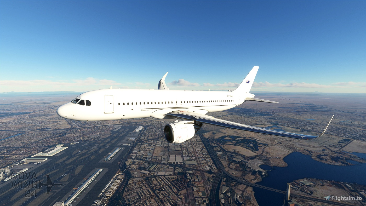 Airbus A32NX FBW VH-VCJ Flight Simulator 2020