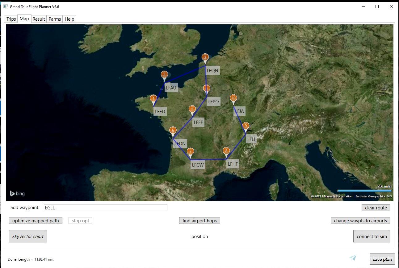 Grand Tour Flight Planner Flight Simulator 2020
