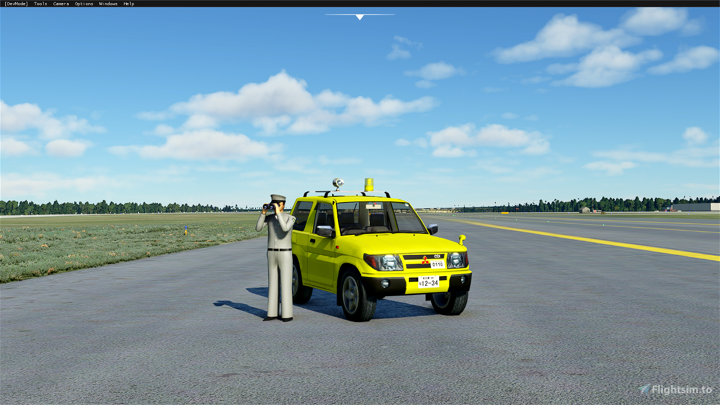 [DRIVABLE] CAR Mitsubishi PAJERO Flight Simulator 2020