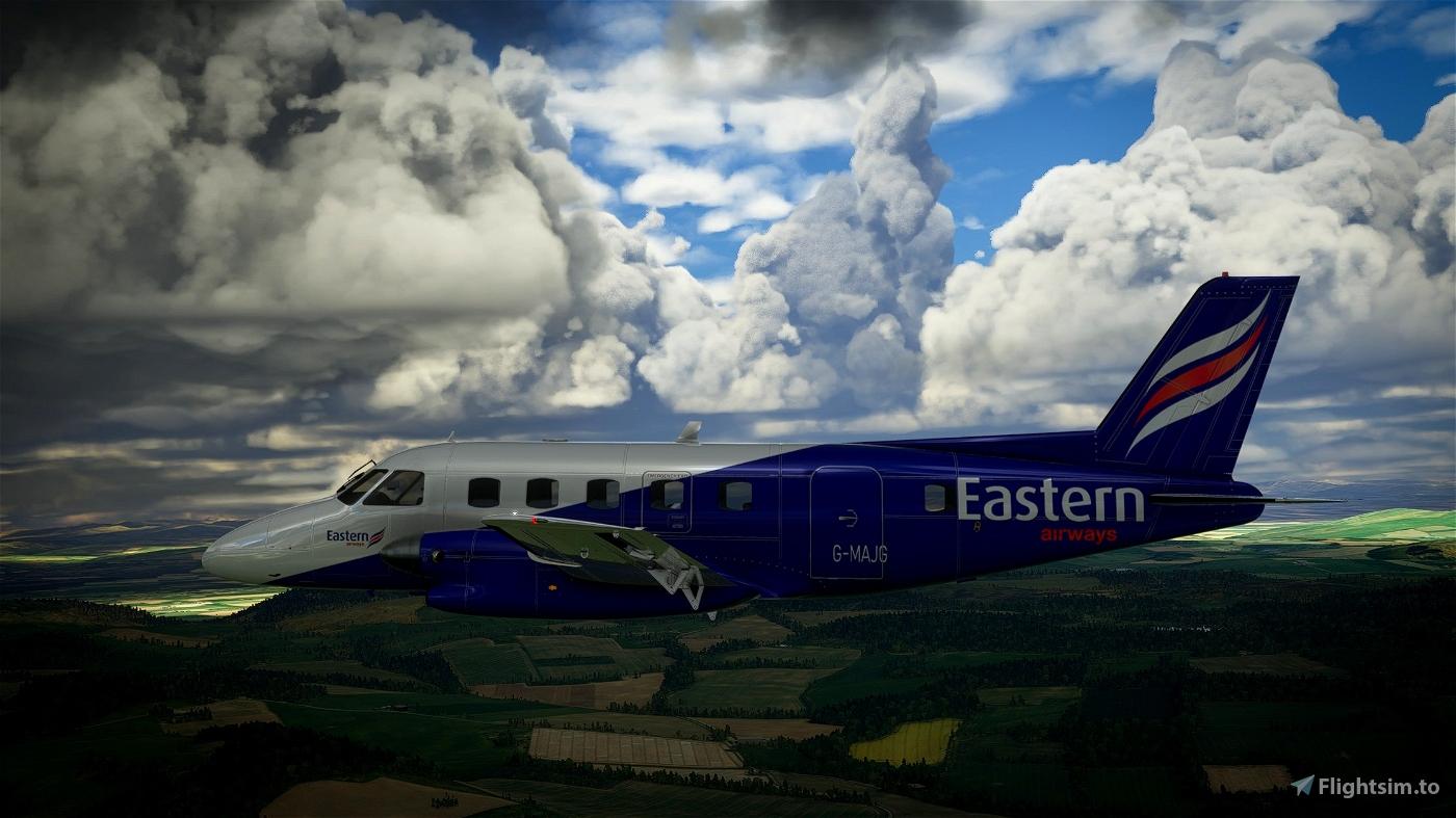 NextGen Simulations EMB-110 Bandeirante Eastern Airways Flight Simulator 2020