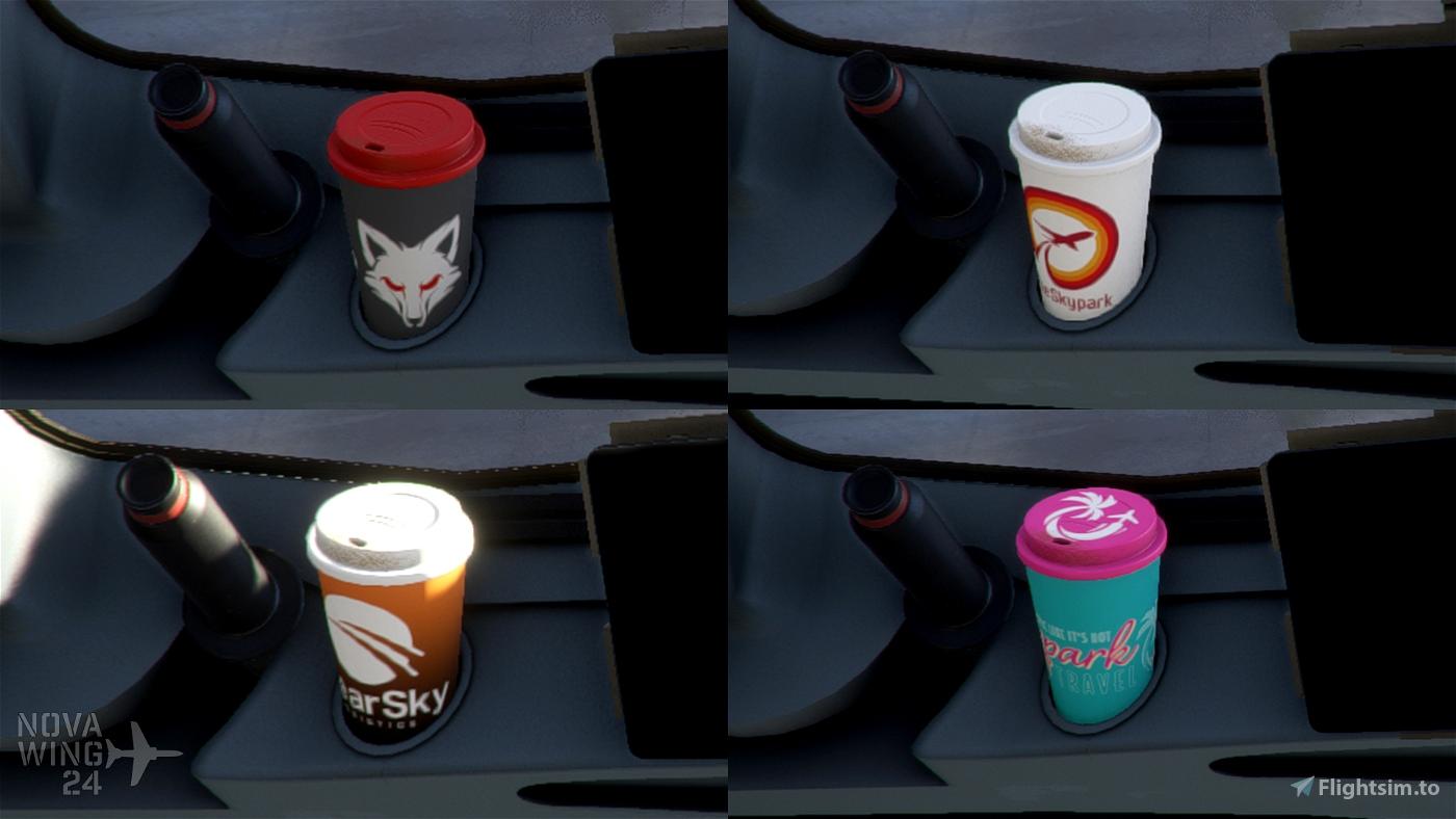 The Skypark Agency A32NX Coffee Cups Flight Simulator 2020