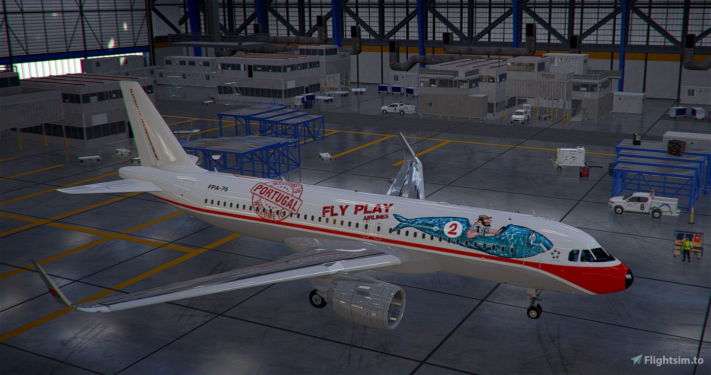 [A32NX] Fly Play Airlines VA livery - WELCOME TO PORTUGAL