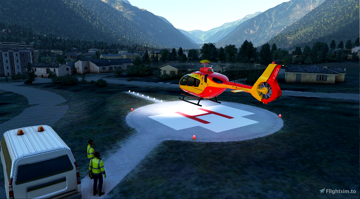 Helipad - Chamonix hospital Flight Simulator 2020