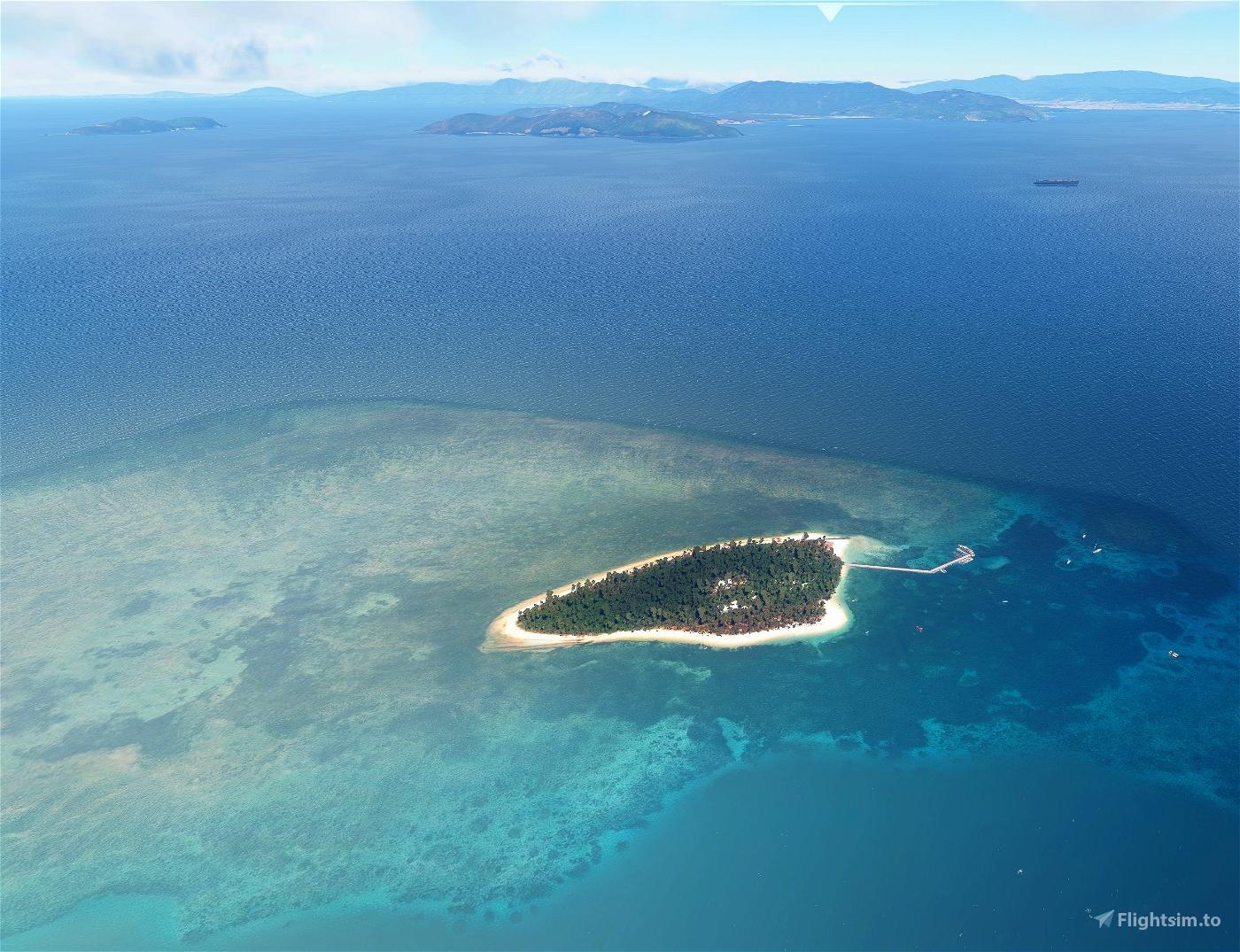 Green Island Great Barrier Reef and Cairns Helipads Flight Simulator 2020
