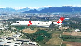 REGA (air rescue) CRJ 550 - 8K Image Flight Simulator 2020