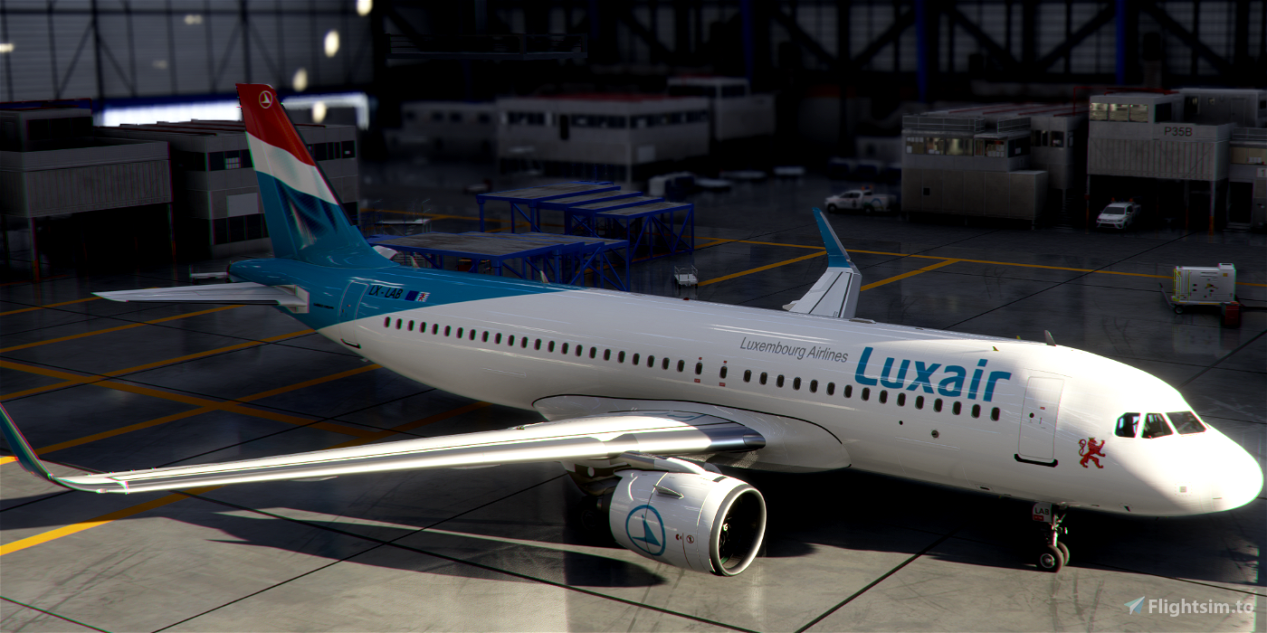 [A32NX] FlyByWire | Airbus A320neo Luxair LX-LAB in 8k