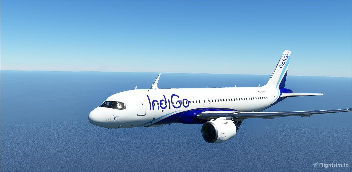 [A32NX] [FBW] INDIGO AIRLINES [8K] No Text Mirroring Flight Simulator 2020