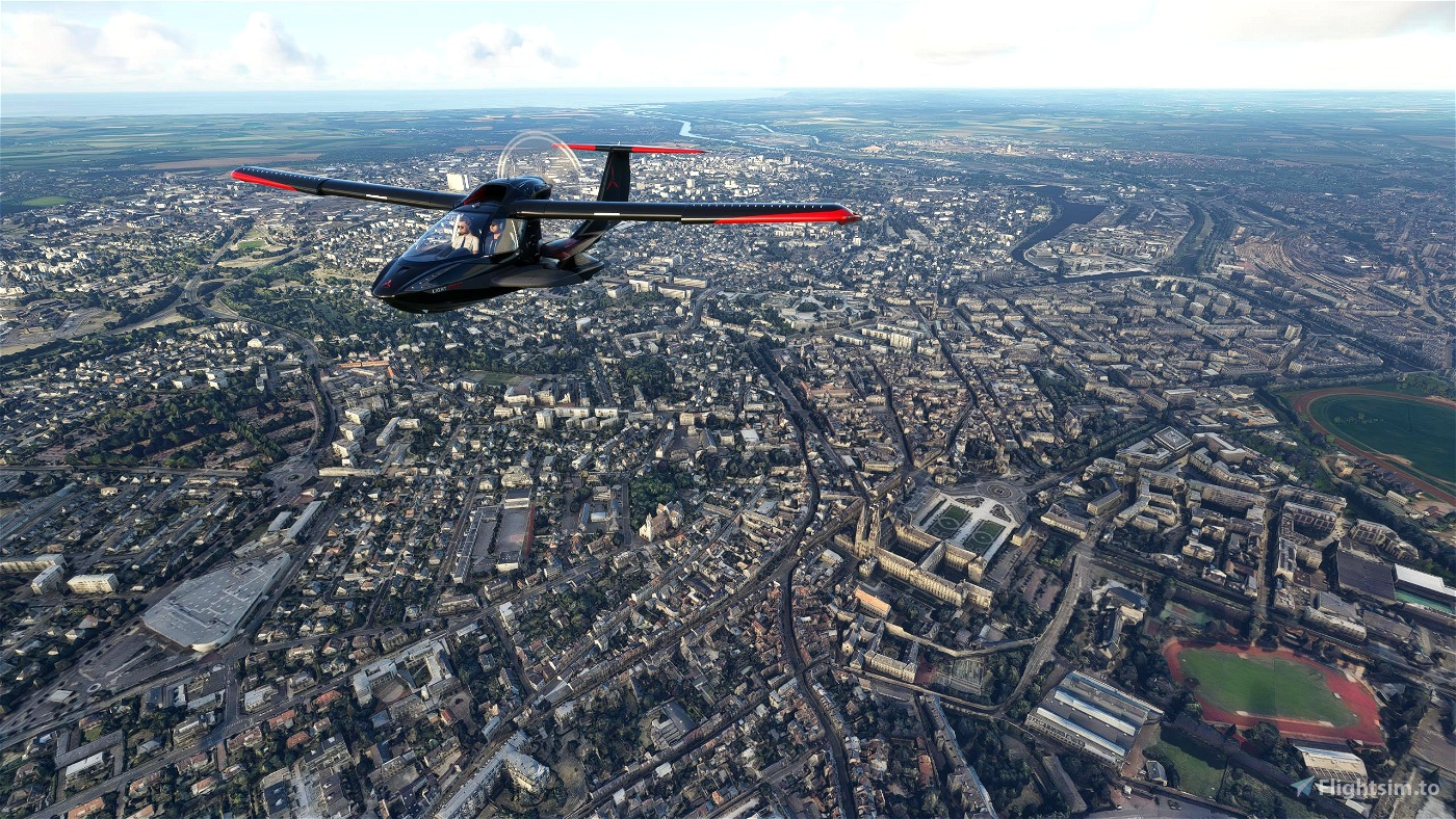 Caen City Flight Simulator 2020