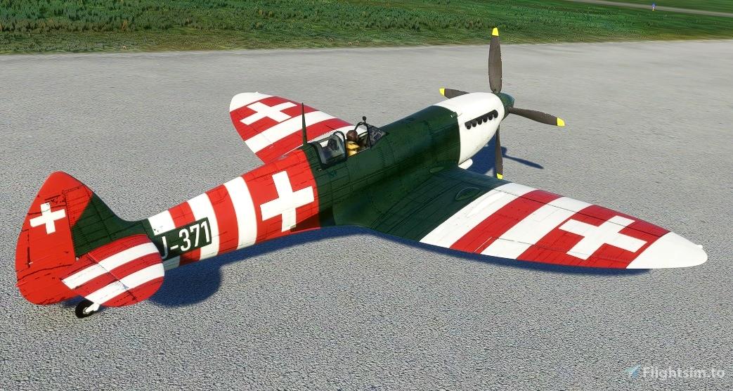 Spitfire J-371 Swiss Air Force Flight Simulator 2020