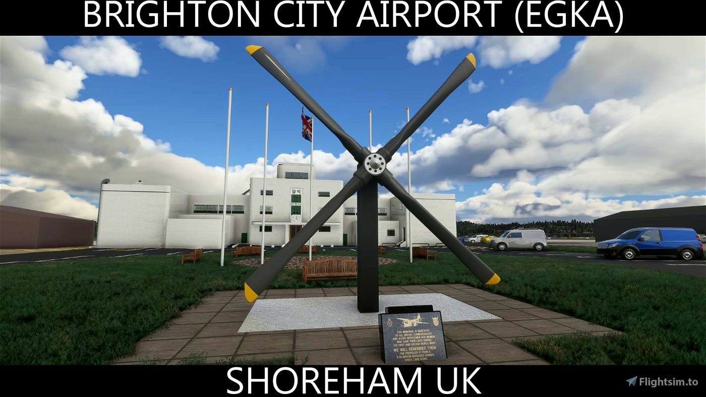 Brighton City Airport Shoreham EGKA Flight Simulator 2020