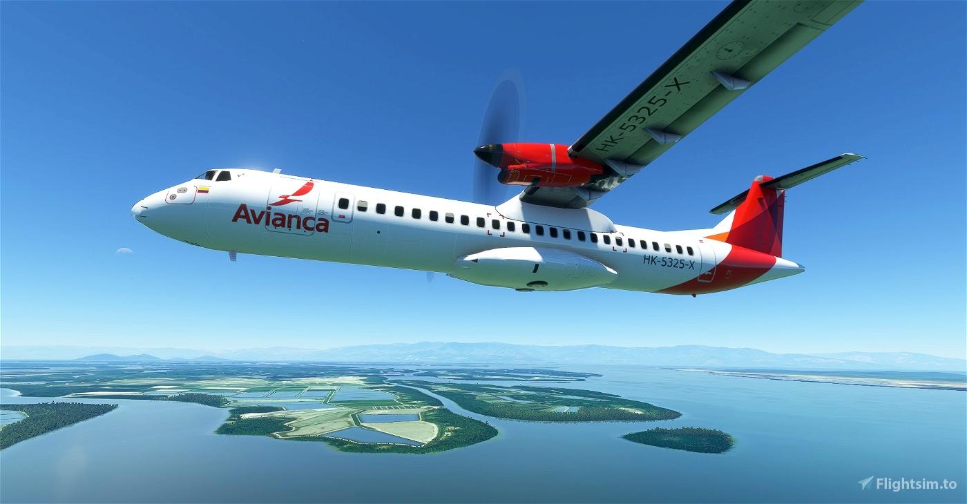 Avianca ATR 72-600 8K Flight Simulator 2020