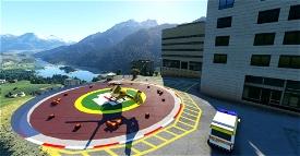 Elisuperficie Ospedale Pieve di Cadore Image Flight Simulator 2020