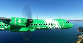 Werder Bremen ATR 72-600 8K Image Flight Simulator 2020