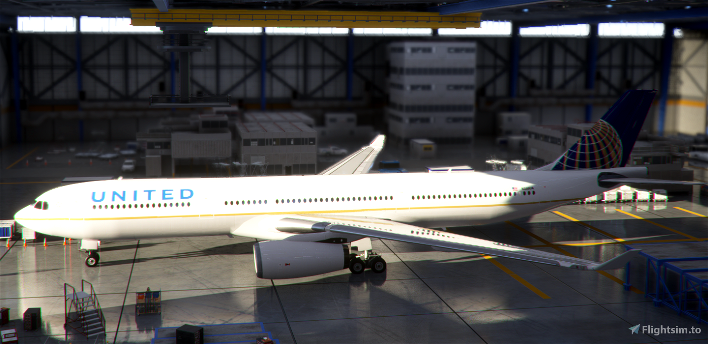 PMP Airbus A330-300 United old colors - fictional [4k]