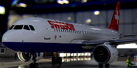 [A32NX] FlyByWire | Airbus A320neo Swissair HB-IJA in 8k Livery Image Flight Simulator 2020