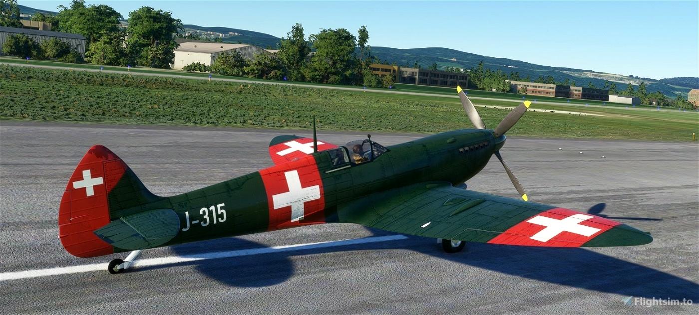 Spitfire J-315 Swiss Air Force Flight Simulator 2020