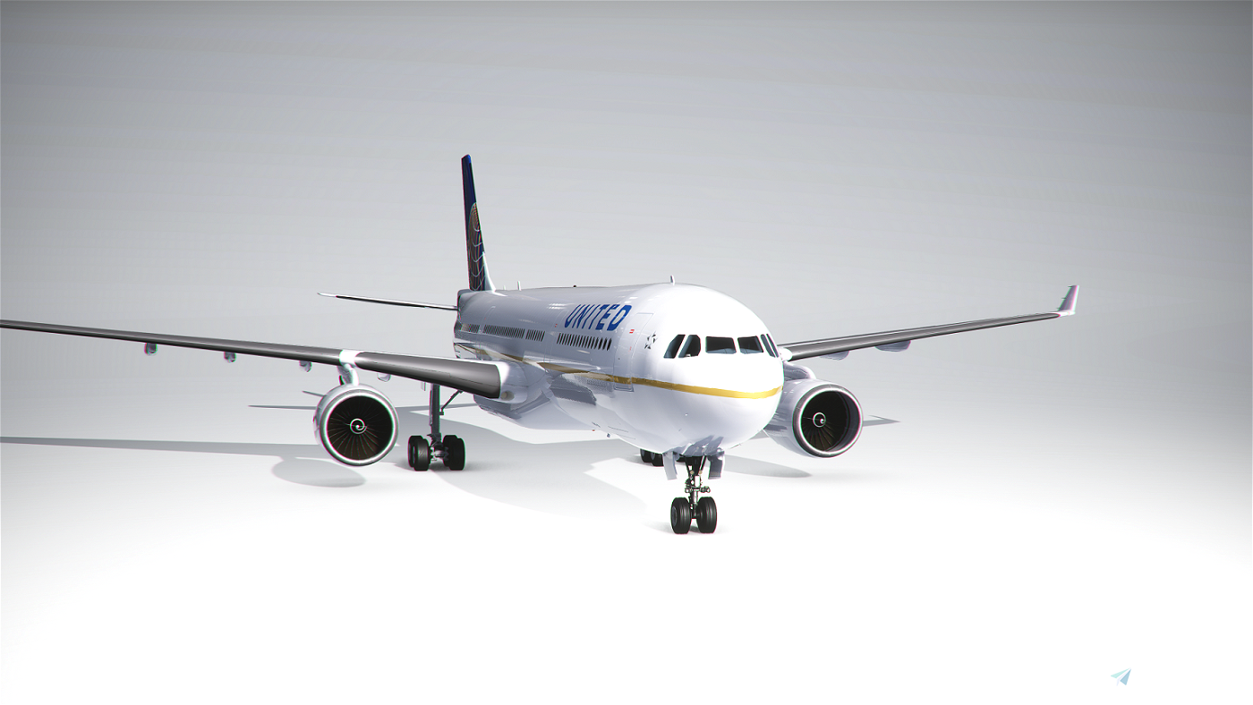 PMP Airbus A330-300 United old colors - fictional [4k] Flight Simulator 2020